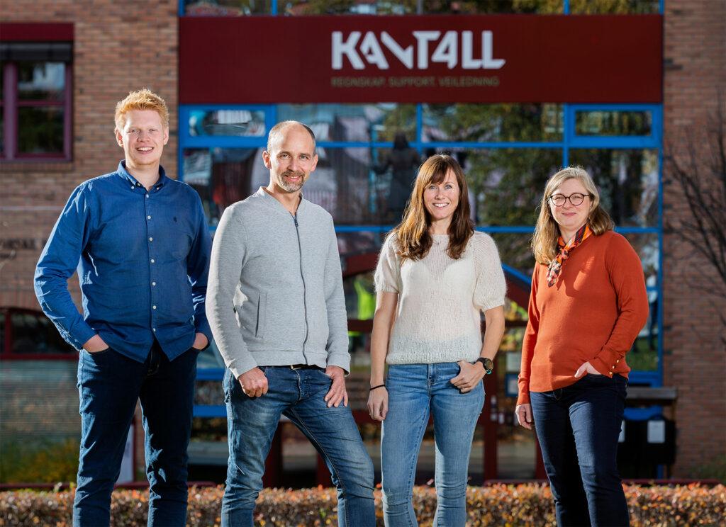 Kantall-teamet som leverer support på Power Office GO